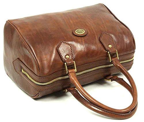 The Bridge Story Donna Barrel Bag Sac à main - porté main cuir 30 cm braun