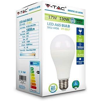V-TAC VT-2017 energy-saving lamp 17 W E27 A+ - Lámpara LED (17 W, 115 W, E27, A+, 1800 lm, 20000 h)