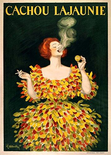 Vintage Lebensmittel und Konfekt Cachou Lajaunie liquorice-based Candies C1900von Leonetto Cappiello 250gsm, Hochglanz, A3, vervielfältigtes Poster -