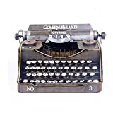 Retro modello di macchina da scrivere vintage, stile di campagna americano decorazione in metallo arte artigianato, ispirato meccanica retrò, per la casa, decorazione bar caffè, puntelli di film