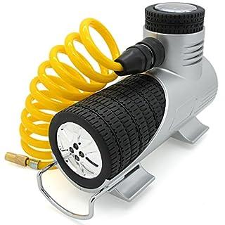 Tiretek Auto-Kompressor, tragbare Luftpumpe für Autoreifen, 12 V