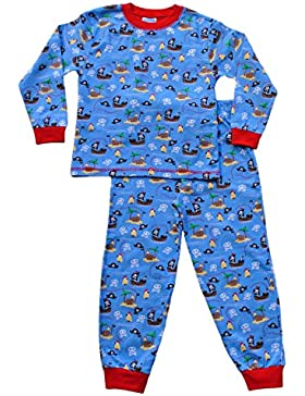 ThePyjamaFactory Jungen Schlafanzug blau blau