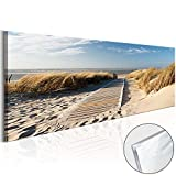 murando - Acrylglasbild Landchaft 135x45 cm - Bilder Wandbild - modern - Decoration Strand c-B-0099-k-a