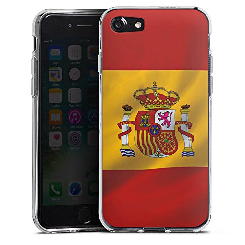 Apple iPhone X Silikon Hülle Case Schutzhülle Spanien Flagge Spain Silikon Case transparent