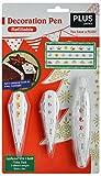 PLUS Japan Set de stylos décoratifs 3 motifs différents sur le thème de Noël