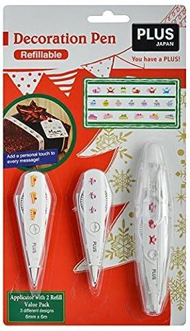 PLUS Japan Dekorationsstift Weihnachten Vorteils Set B 3-teilige verschiedene Muster
