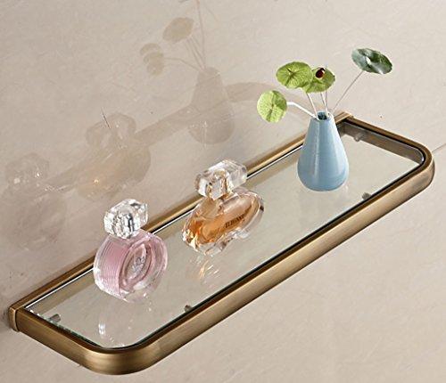 Ppy778 Badezimmer-Regal-europäisches Art-Glas-Regal Monolayer Gold-kosmetischer vorderer Spiegel-vorderes Regal Badezimmer-Spiegel-Regal-Wand-Halterung (Color : C) -