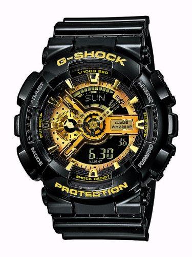 Casio Herren Analog/Digital Quarz mit Resin Armbanduhr GA110GB1AER (G-shock-watch-gelb Und Schwarz)