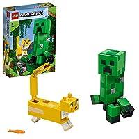 LEGO21156MinecraftBigFigCreeperandOcelotFiguresBuildingSet,ToysforKids7+YearsOld