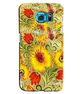 Omnam Yellow Flower Pattern Beautifully Printed Designer Back Cover Case For Samsung Galaxy S7