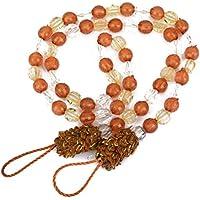 2pcs Decorativas Cuerdas para Cortina Abrazaderas (Marrón claro)
