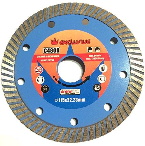 Corona Exklusives Professional Diamond Disc Sägeblatt 125X 22,2Trocken und nass Schneiden, Fliesenschneider (COR C4809)