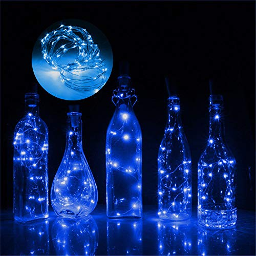 (Mitlfuny 1M 10 LED Flaschen-Licht Weinflasche Lichter Cork Form Kupferdraht Bunte Fee Mini String Lichter FüR DIY Party Decor Weihnachten Halloween Hochzeit)