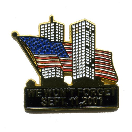9/11 Terroranschläge 9.11.2001 World Trade Center USA Metall Pin Anstecker 0420 -