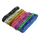8 Farben Glitter Samtband Schmuckband Schleifenband Zierband Samtborte Zierborte zum Basteln