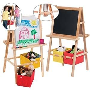 dominoes deluxe chevalet en bois avec accessoires tableau en bois pour les enfants. Black Bedroom Furniture Sets. Home Design Ideas