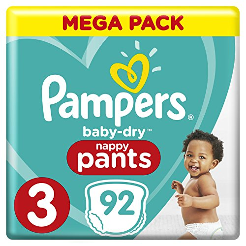 Pampers - Baby Dry Pants - Couches-culottes Taille 3 (6-11 kg) - Mega Pack (x92 culottes)