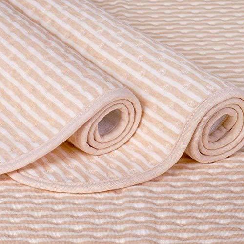 XIANGHUi 4 Lagen Wasserdicht Atmungsaktiv Inkontinenzauflage Bettunterlage für Baby Kinder Erwachsene Dry Night Matratzenauflage Waschbar -100% Baumwolle,60 * 100cm
