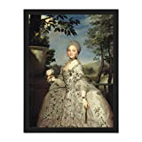 Doppelganger33 LTD Painting Portrait Mengs Princess Maria Luisa Asturias Large Framed Art Print Poster Wall Decor 18x24 inch Supplied Ready to Hang