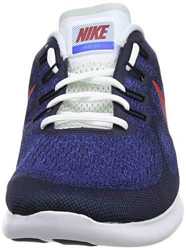 Nike Free Run 2017, Running Homme Gris (Obsidian/university Red/racer 406)