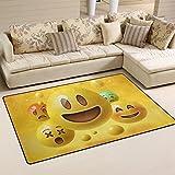 ingbags Super suave moderno amarillo cara sonriente emoticonos Emoji zona Rugs sala de estar alfombra dormitorio alfombra para niños Play Solid decoración de casa suelo alfombra y Carpets 31x 20cm