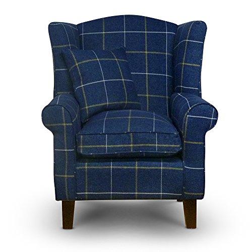 Lounge Tartan Wing Chair Home Fu...
