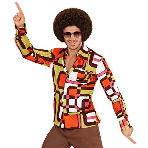 NET TOYS Kultiges 70er & 80er Jahre Hemd für Herren | Größe XXL (56) | Angesagtes Männer-Outfit Schlager-Star | Perfekt geeignet für Mottoparty & Schlagermove (Siebziger Und Achtziger Jahre Kostüm)