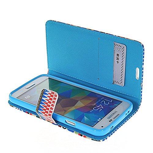MOONCASE Pattern Series Housse de Protection Coque en Cuir Portefeuille Étui à rabat Case pour Apple iPhone 6 (4.7 inch) A16286
