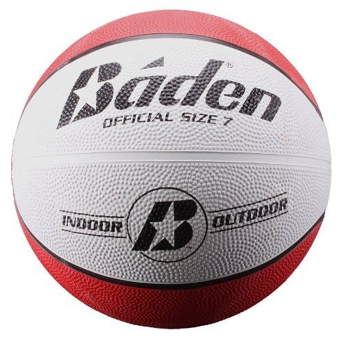 Baden Basketball aus Gummi, rot/weiß, 28.5-Inch -