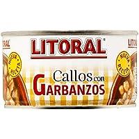 LITORAL Callos con garbanzos - Plato Preparado Sin Gluten - Paquete de 12 x 380 g - Total: 4.56 kg