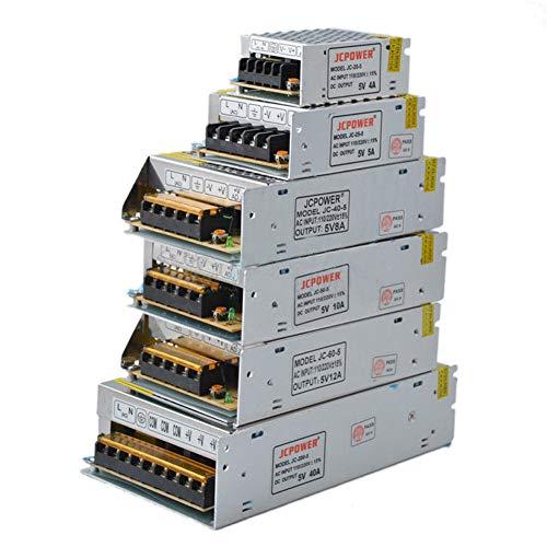 FidgetGear LED-Netzteil-Transformator, 5 V, 2A/5A/10A/12A/20A/30A/40A/60A, WS2812B, 5V 6A 60a Netzteil