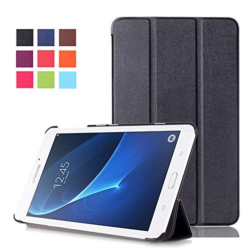Tab A SM-T280N Schutzhülle,Case für Galaxy Tab A6 LTE Tablet,Folio Case Cover mit Support-Funktion PU Leder Hülle für Samsung Galaxy Tab A 7.0 Zoll (2016) SM-T280N / T285N Tablet,Schwarz