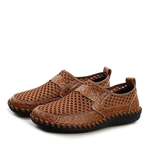 AgeeMi Shoes Homme Mocassins Flats Slip On Synthétique Chaussures Brun