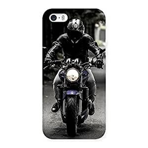 Special Bike Rider Multicolor Back Case Cover for iPhone SE