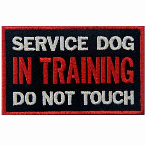 Service Dog In Training Do Not Touch Westen / Gurte Service Hund Emblem Bestickter Aufnäher mit Klettverschluss (Training Uniform)