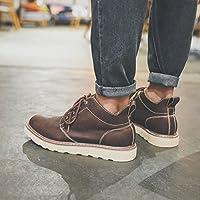 HL-PYL - Der britische Männer Casual Schuhe Männer hoch dicken Sohlen  Stiefel aus Leder b071742408