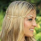 handmadejewelrylady Lady borla Metal cabeza cadena cabeza mujeres Fashion metal Rhinestone joyería diadema cabeza pelo banda