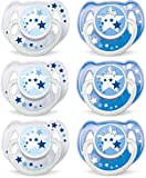 #7: Philips AVENT BPA Free Night Time Pacifier, 6-18 Months, 6 Count