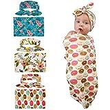 Lalang Babydecke Baby-Fotografie Dekoration Eingewickelte Tuch und Haarband (Donuts)