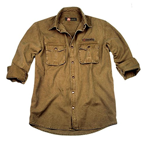 Chemise de Kakadu Traders McLeod de travail résistante en toile dense Gunn-worn, 6S02 Mustard