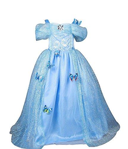 Eyekepper Girl 's Straps Prinzessin Geburtstag Party Kleid Ballkleid Kleid Gr. Large, ()