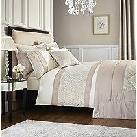 Catherine Lansfield colcha Ornate de Jacquard, crema, poliéster, crema, Bedspread