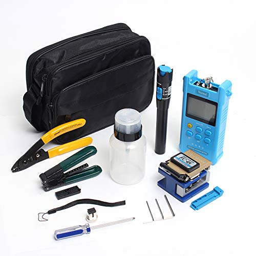 ExcLent Fiber Optic Ftth Tool Kit With Fc-6S Cleaver Optical Power Meter Visual Fault Locator Finder Cable Cutter Stripper Plier