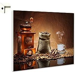 B-wie-Bilder.de Magnettafel Pinnwand mit Motiv Küche Essen & Trinken Kaffee Mühle Größe 80 x 60 cm