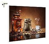 Magnettafel Pinnwand mit Motiv Küche Essen & Trinken Kaffee Mühle Bohnen Größe 60 x 40 cm