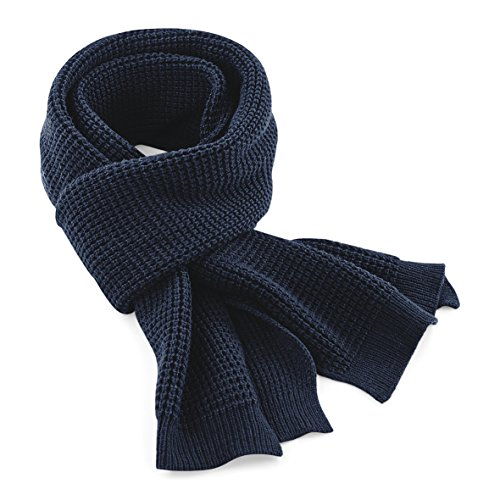 Beechfield - Echarpe classique tricotée - Adulte unisexe Bleu Marine