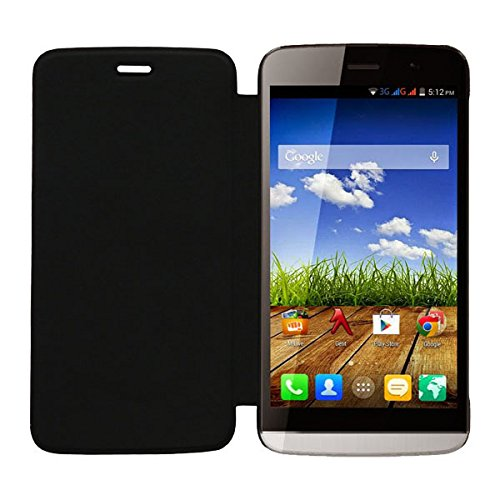 Acm Leather Diary Folio Flip Flap Case For Micromax Canvas L A108 Mobile Front & Back Cover Black  available at amazon for Rs.179