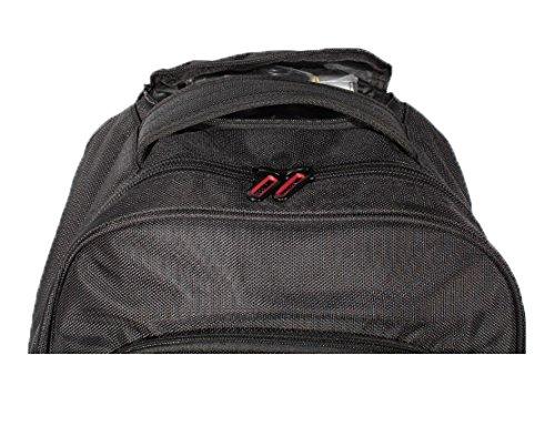 2Rädern Business Notebook Tasche Trolley auf Rädern mit Rucksack schwarz schwarz 60 cm grün