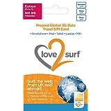 Tarjeta Triple SIM Internacional de Datos 3G SIM para Viajes • 114 países - EUROPA - 500MB