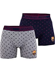 Lot de 2 boxers Barça - Collection officielle FC BARCELONE - Taille adulte homme